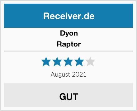 Dyon Raptor Test