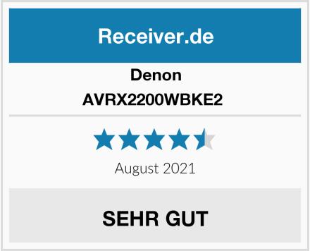 Denon AVRX2200WBKE2  Test