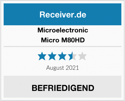 Microelectronic Micro M80HD Test