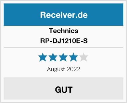 Technics RP-DJ1210E-S Test