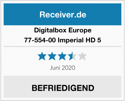 Digitalbox Europe 77-554-00 Imperial HD 5 Test
