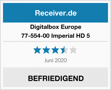 Digitalbox Europe 77-554-00 Imperial HD 5 Test