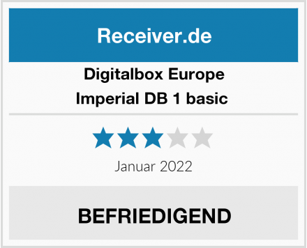 Digitalbox Europe Imperial DB 1 basic  Test