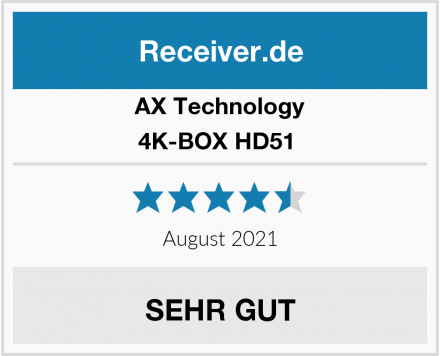 AX Technology 4K-BOX HD51  Test