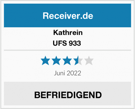 Kathrein UFS 933  Test