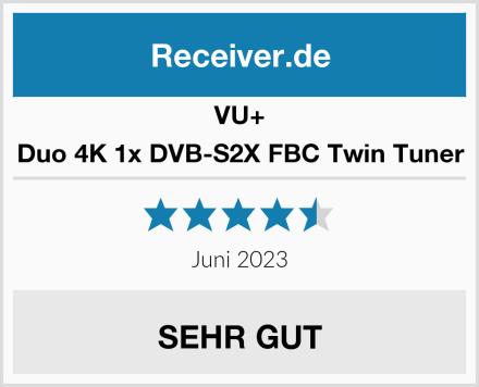 VU+ Duo 4K 1x DVB-S2X FBC Twin Tuner Test