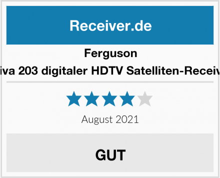 Ferguson Ariva 203 digitaler HDTV Satelliten-Receiver Test