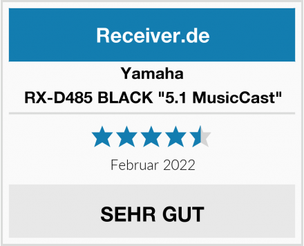 "Yamaha RX-D485 BLACK ""5.1 MusicCast"" Test"