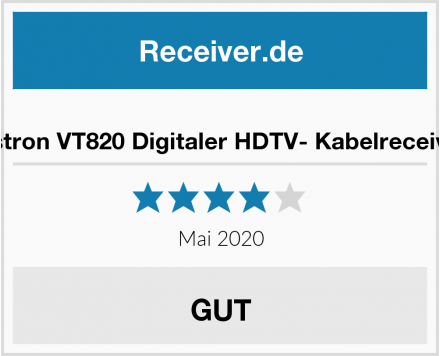 Vistron Vistron VT820 Digitaler HDTV- Kabelreceiver Test