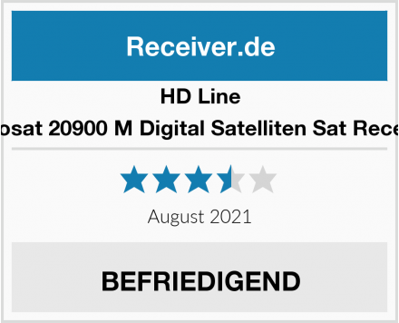 HD Line Echosat 20900 M Digital Satelliten Sat Receiver Test