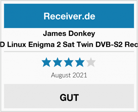 James Donkey 2K HD Linux Enigma 2 Sat Twin DVB-S2 Receiver Test