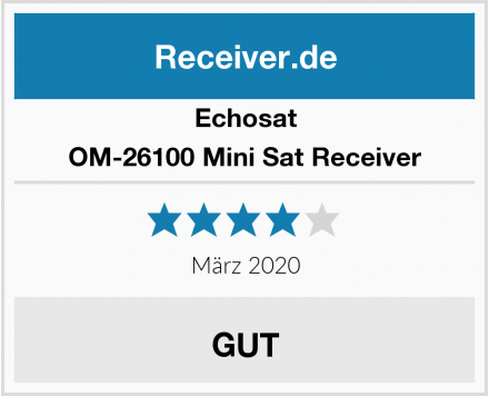 Echosat OM-26100 Mini Sat Receiver Test