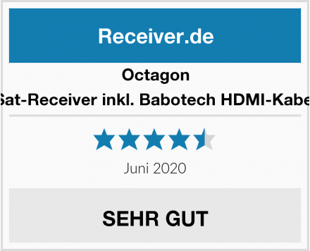 Octagon Sat-Receiver inkl. Babotech HDMI-Kabel Test
