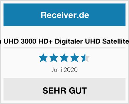 sky vision UHD 3000 HD+ Digitaler UHD Satellitenreceiver Test