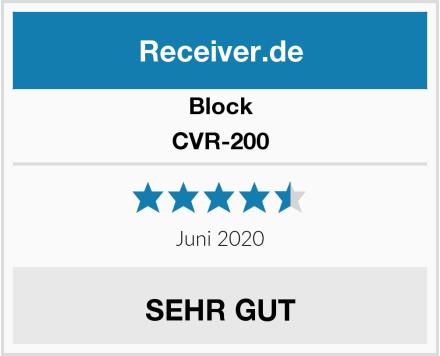 Block CVR-200 Test