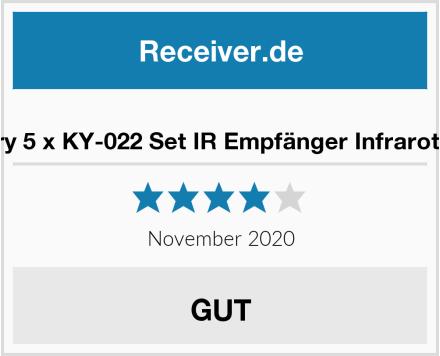 AZDelivery 5 x KY-022 Set IR Empfänger Infrarot Receiver Test
