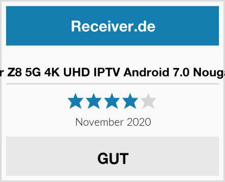Formuler Z8 5G 4K UHD IPTV Android 7.0 Nougat Player Test