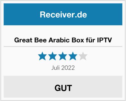Great Bee Arabic Box für IPTV Test