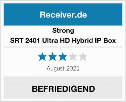 Strong SRT 2401 Ultra HD Hybrid IP Box Test