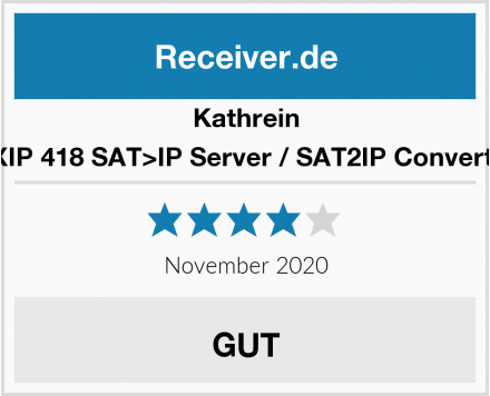 Kathrein EXIP 418 SAT>IP Server / SAT2IP Converter Test