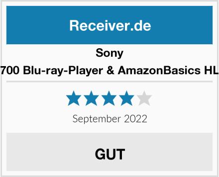 Sony BDP-S1700 Blu-ray-Player & AmazonBasics HL-007306 Test