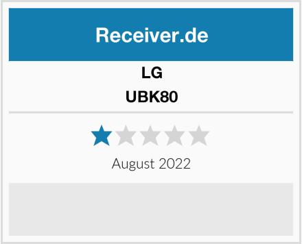 LG UBK80 Test