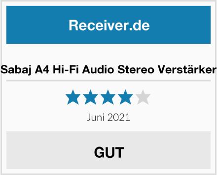 Sabaj A4 Hi-Fi Audio Stereo Verstärker Test