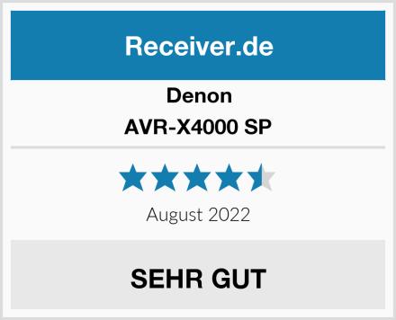 Denon AVR-X4000 SP Test