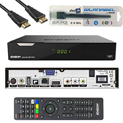 Edision Piccollo S2+T2/C Full HD Satelliten-Kabel-Receiver