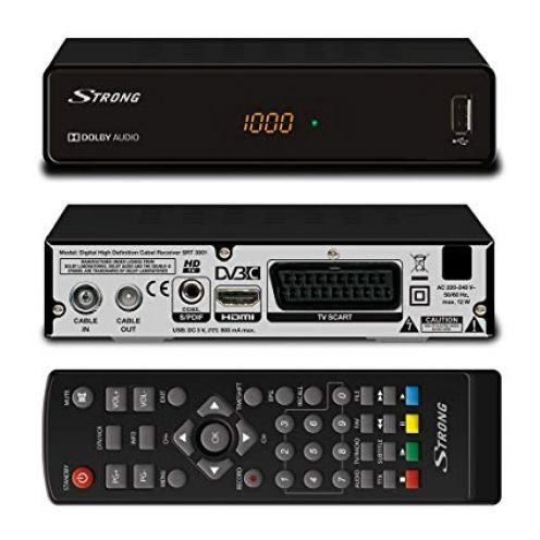 Strong SRT 3001 HD Receiver für digitales Kabelfernsehen